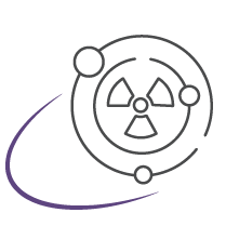 space radiation icon